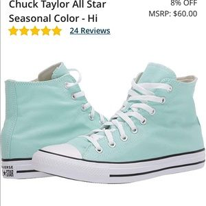 Tiffany mint hightop converse Chuck Taylor AllStar